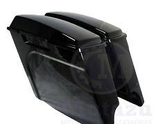 """Mutazu 4"""" Vivid Black Fits Harley HD Stretched Extended Touring Hard Saddlebag"""