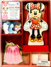 Melissa & Doug Authentic Disney Parks Minnie Mouse Magnetic Wooden Dress Up Set