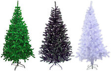 3,4,5,6,7ft GREEN WHITE BLACK Traditional Indoor Artificial Christmas XmasTree