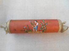 Ravissante Boîte à Confiserie en soie peinte  XIXème - Restauration