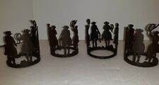 Napkin Rings Cowboy Western Ranch Hands Metal Set Of Four Cowboys On Horses