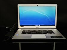 "Acer 15.6"" Touchscreen Chromebook Laptop Intel DualCore 4gb Chrome Silver"