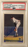 1984 Donruss RICH GOOSE GOSSAGE Signed Autographed Baseball Card PSA/DNA #396