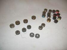 25 vintage sewing machine metal bobbins 5 sizes / styles