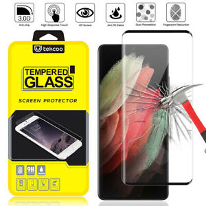 For Samsung Galaxy S21/Plus/Ultra 5G Tempered Glass Screen Protector Full Cover