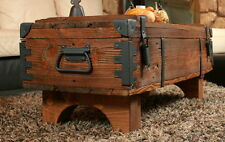 OLD TRAVEL TRUNK Coffee Table Cottage Steamer Trunk PINE CHEST Vintage Box 16