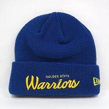 New Era Para hombre NBA Golden State Warriors equipo Waffle Knit Beanie Sombrero del Invierno
