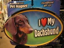 I Love My Dachshund 6 inch oval magnet for car or anything metal New