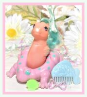 ❤️My Little Pony G1 Vtg BABY Pretty 'n Pearly SEA PONY Water Lily Float EURO❤️
