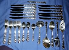 56 Pieces Vintage Community Silverplate Flatware Modern Baroque- Free Shipping