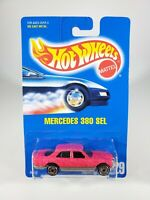 Hot Wheels Mercedes-Benz 380 SEL PINK Glitter  Vintage Blue Card #229 NOC NEW