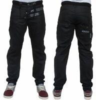 Men's Enzo Cuffed Jeans Joggers Designer Trouser Pants 3 Fashion Colours 28-48