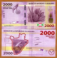 Burundi, 2000 Francs, 2015, P-New, UNC > ZZ REPLACEMENT