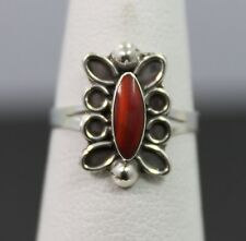 Southwestern Style Sterling Silver Red Malachite Ring