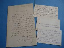 GEORGES LAFENESTRE Autographe Signé 1887 POETE CRITIQUE ART LOUVRE PARNASSE +CDV