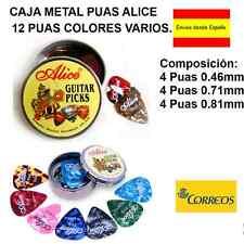 CAJA PUAS METAL ALICE COMPUESTO POR 12 PUAS DE COLORES SURTIDOS IDEAL REGALO