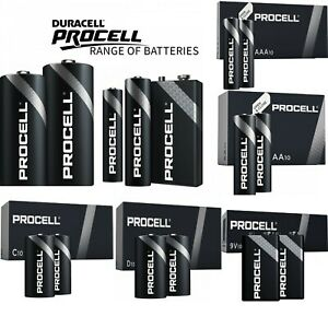 Duracell Industrial Procell Professional Alkaline AA AAA C D 9V Batteries UK