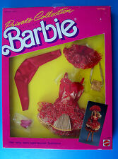 1987 BARBIE Private Collection Fashion RED SHORT FORMAL GOLD ACCESS.4510 NRFB