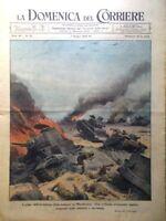 La Domenica del Corriere 7 Giugno 1942 WW2 Marmarica Giappone Deserto Artigiani