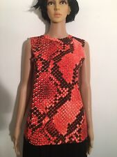 KSUBI WOMENS CROSSOVER ORANGE SNAKE MUSCLE TOP Size S NWT RRP $119