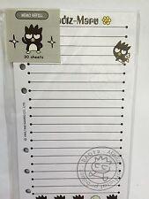Badtz Maru Sanrio Memo Paper, Refill Pages, RARE, Fits LV MM, NIP -Style A