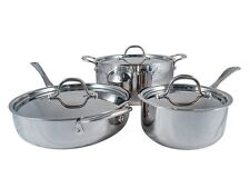 Le Chef 5-ply Stainless Steel 6 Piece Cookware Set, Super Sale.