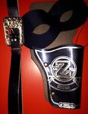 2-tlg Zorro Set, Augenmaske Gürtel mit Holster, Rächer Cowboy Kostüm 1293604-113