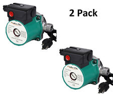 """2 Pack 110V 3/4""""Stainless Steel Hot Water Circulation Pump for Heater System"""