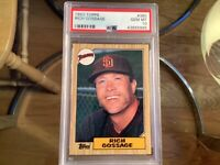 "1987 Topps Baseball #380 Rich ""Goose"" Gossage (HOF) PSA 10 Gem Mint!"