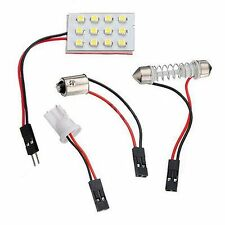 Panel 1210 SMD 12 LED White DC 12V Interior BA9S Bulb Car Festoon Dome Light