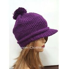 Women Winter Beret Warm Baggy Beanie Knit Crochet Hat Slouch Visor Snow Ski Cap