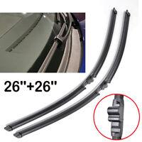 For Porsche Cayenne VW Touareg 02-06 Twin Pair Front Windshield Wiper Blades Set