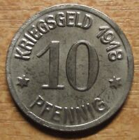 Germany Notgeld (Token) Ratibor 10 pfennig 1918 UNC