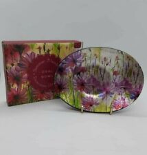 Summer Meadows Flowers Decorative Glass Bowl Dish Home Gift Ornament Trinket