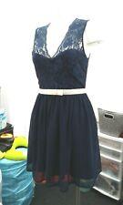 """asos"" ladies navy blue lace dress  sz 10"