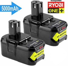 2pack Rb18l50 18v 5.0ah Batterie remplacement pour Ryobi One P1..