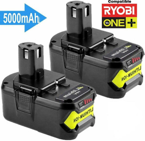 Batterie Ryobi 5Ah 18V ONE Plus Li-Ion 5,0 P104 P105 P102 P103 P107 P108 Pack x2