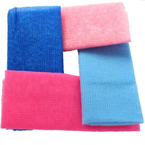 4 Japanese Exfoliating Body Beauty Wash Cloth Towel Scrubber Bath Shower Cleaner