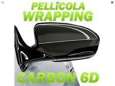 PELLICOLA Car Wrapping Carbonio 6D 152x50cm Adesivo 3M RACING AUTO MOTO TUNING