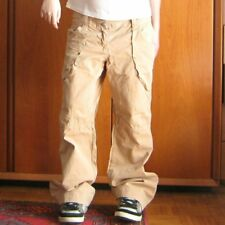 pantaloni chino cargo UNITED COLORS OF BENETTON beige crema donna 44 baggy skate