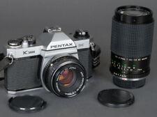 Clean Rare Pentax Asahi K1000 SE 35mm Film SLR  w/50mm f2 +70-210mm