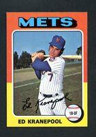 1975 Topps Mini #324 Ed Kranepool Vintage Card~NM/NM-MT~Mets
