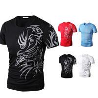 Men's Slim Fit Short Sleeve Polo Shirt Tops Casual T-shirts Tee M/L/XL/XXL/XXXL