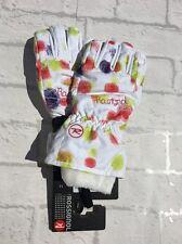Rossignol Girls Waterproof Skiing Gloves White Blasted Flake Size 16