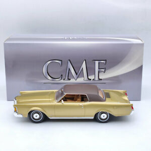 CMF 1:18 Lincoln Continental MK III 1970 Gold CMF18205 Resin Models Collection