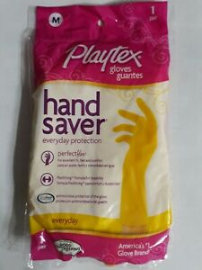 Packs Playtex Hand Saver Gloves One Pair Medium Size  Everyday Protection, 1ct