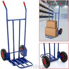600LB Heavy Duty Industrial Hand Sack Truck Trolley Warehouse Pneumatic Tyre