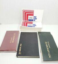 Lot of 40 Log Books JEPPESEN Pilot, The Standard Aircraft & Engine Log, Cessna