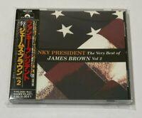James Brown CD Funky President Very Best Of JB Vol.2 Promo Japan OBI POCP-2288