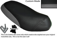 BLACK & GREY CUSTOM FITS PIAGGIO SFERA 125 DUAL LEATHER SEAT COVER ONLY